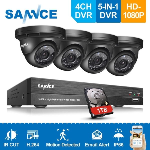 SANNCE 4CH 1080P HD 1080P Security Cameras Video Surveillance System