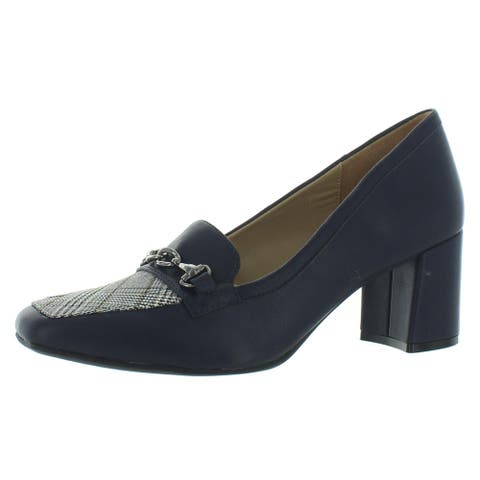 Naturalizer Womens Wynd Loafer Heels Square Toe