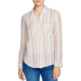 Sanctuary Womens Button-Down Top Striped Tailored