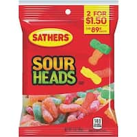 Farley's/Sathers Candy Co. 3Oz Sour Heads 10284 Unit: EACH Contains 12 per case
