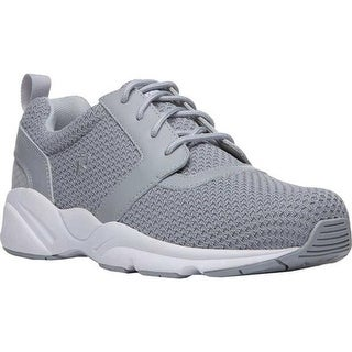 Propet Men's Stability X Walking Sneaker Light Grey Mesh