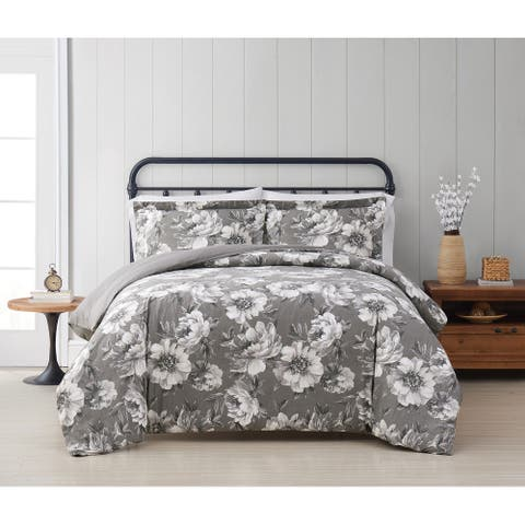 Cottage Classics Rochelle Floral 3 Piece Duvet Cover Set