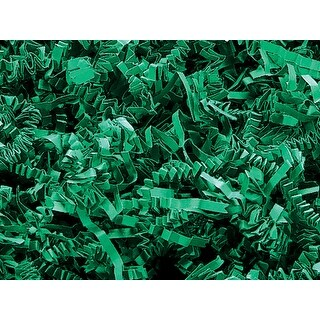 Pack of 1, Green Crinkle Cut Paper Shred 10 Lb