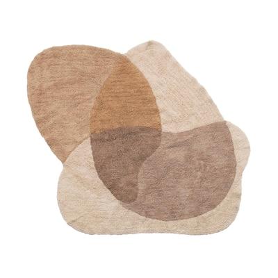 Cotton Tufted Print Rug, Multi Color - 4' x 5-1/2'