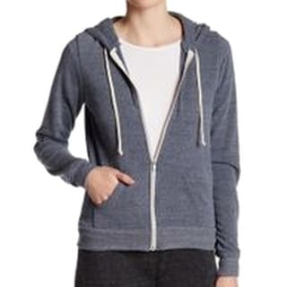 Alternative Apparel NEW Blue Heather Women's Size Small S Zip Hoodie