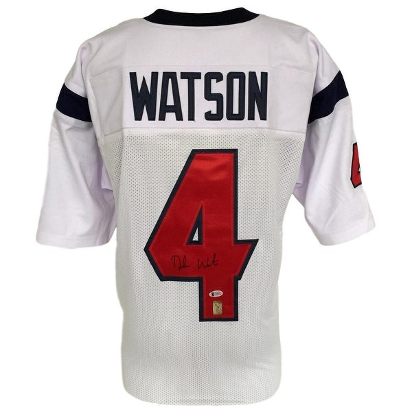 new concept bed00 568ec Shop Deshaun Watson Signed Custom White Football Jersey ...