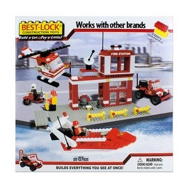 Best-Lock Construction Toys Fire Rescue 450+ pieces!