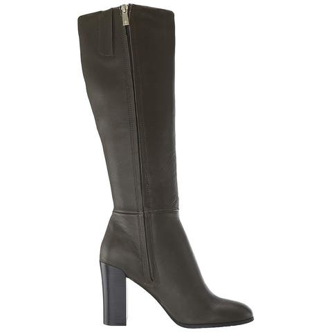 Kenneth Cole New York Womens Justin Leather Round Toe Over Knee Fashion Boots