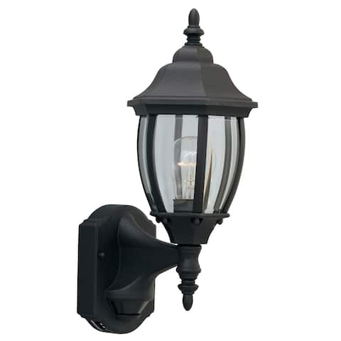 """Designers Fountain 2420MD-BK 1 Light 6.5"""" Wall Lantern with Motion"""