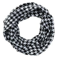 David & Young Women's Houndstooth Infinity Loop Scarf - One size