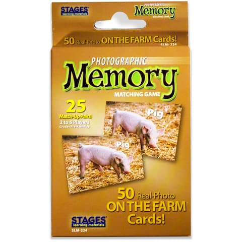 (3 Ea) On The Farm Photographic Memory Matching Game
