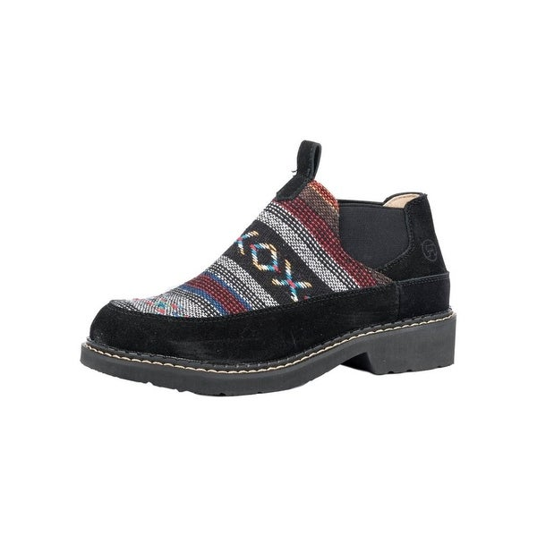 Roper Western Shoes Womens Isabel Aztec Slip Blk