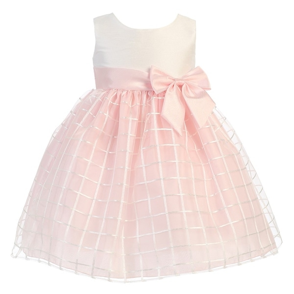 87329947ee7f Shop Little Girls Pink Poly Silk Embroidered Organza Easter Dress 2T ...