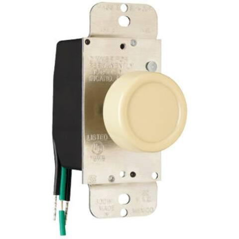 Pass & Seymour 90611IV Single Pole Rotary Dimmer, 600W, Ivory