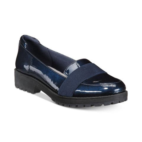 Anne Klein Womens Beyond Leather Closed Toe Loafers