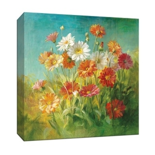 """PTM Images 9-152384  PTM Canvas Collection 12"""" x 12"""" - """"Painted Daisies"""" Giclee Daisies Art Print on Canvas"""