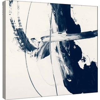"""PTM Images 9-100914  PTM Canvas Collection 12"""" x 12"""" - """"Indigo H"""" Giclee Abstract Art Print on Canvas"""