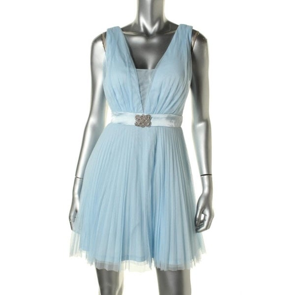 fc7417d57a2 Shop Teeze Me Womens Juniors Party Dress Mesh V-Neck - Free Shipping ...
