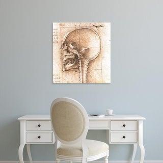 Easy Art Prints Leonardo da Vinci's 'View of a Skull' Premium Canvas Art