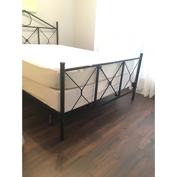 Shop Malouf Structures Steelock Metal Bolt On Headboard/Footboard Bed Frame    Free Shipping Today   Overstock.com   12332053