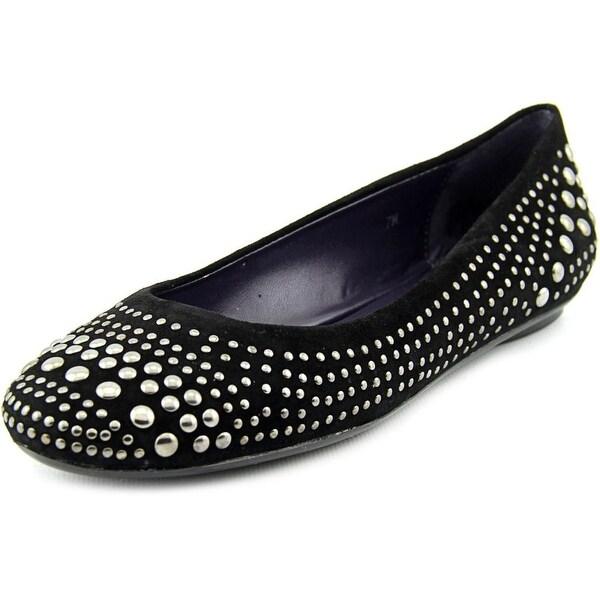 Vaneli Bryana Women N/S Round Toe Synthetic Black Flats