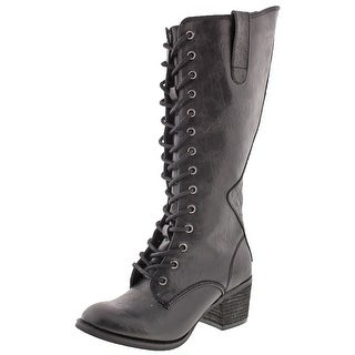 Not Rated Joplin Women's Lace-Up Tall Combat Boots