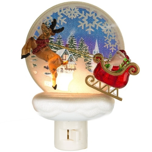 Santa and Reindeer Night Light