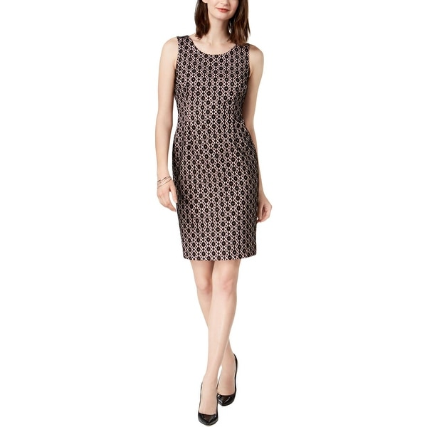 Kasper Womens Petites Wear to Work Dress Lace Sheath
