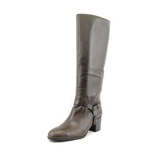 Enzo Angiolini Colston Women Round Toe Leather Brown Knee High Boot