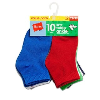 Hanes Boys' Toddler Ankle 10-Pack - 4t-5t