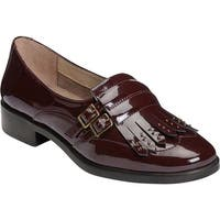 A2 by Aerosoles Women's Ravishing Kiltie Loafer Wine Patent