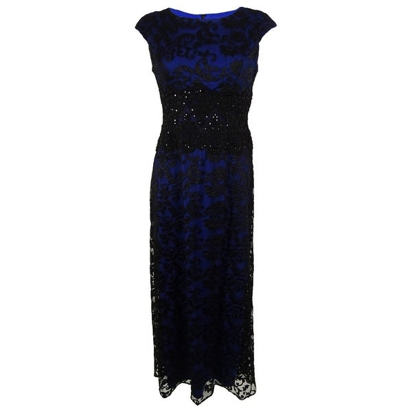 Alex Evenings Women's Embroidered Lace Gown