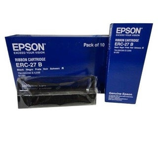 New Genuine Epson ERC-27 B Black Printer Ribbon Cartridges 10PCS C43S015366
