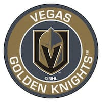 NHL Vegas Golden Knights Rounded Non-Skid Mat Area Rug