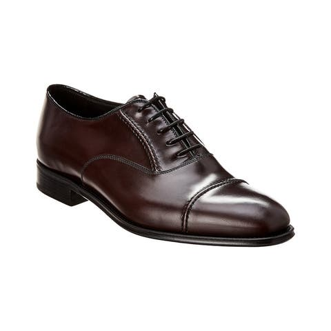 Prada Brushed Leather Oxford