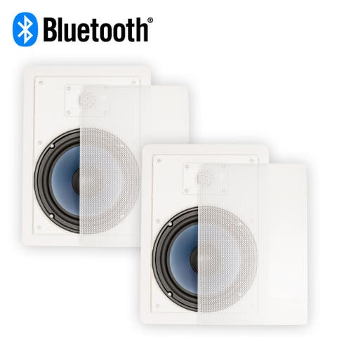 """Blue Octave LW82 Bluetooth 8"""" In Wall Powered Speaker Pair 2-Way Flush Mount"""