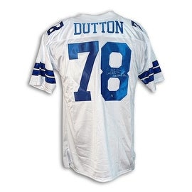 """Autographed John Dutton Dallas Cowboys Throwback Jersey Inscribed """"Americas Team"""""""