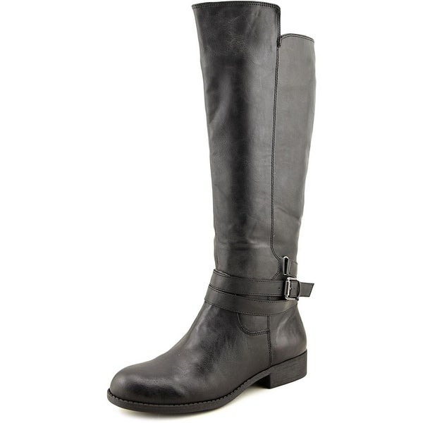 Mia Perimeter Women Round Toe Synthetic Black Knee High Boot
