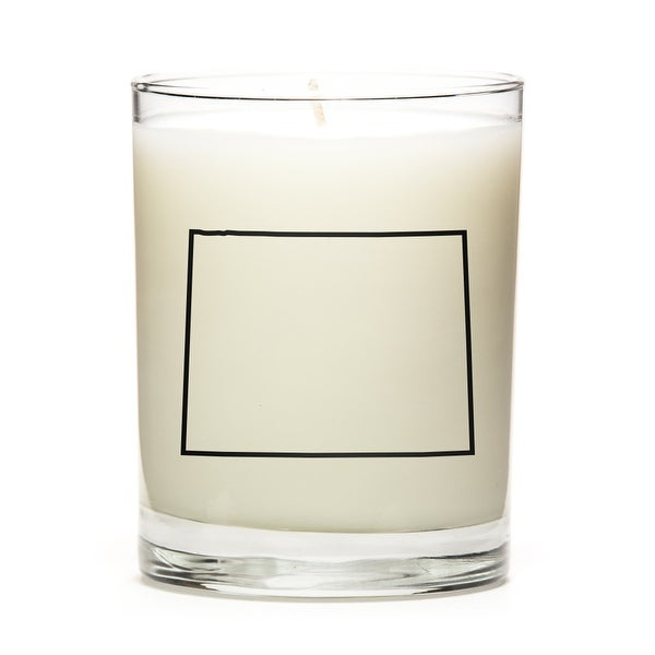 State Outline Soy Wax Candle, Wyoming State, Lemon