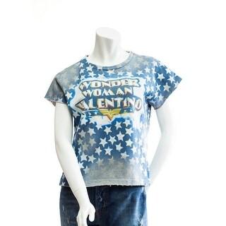 Valentino Wonder Woman Star Studded T-Shirt - M