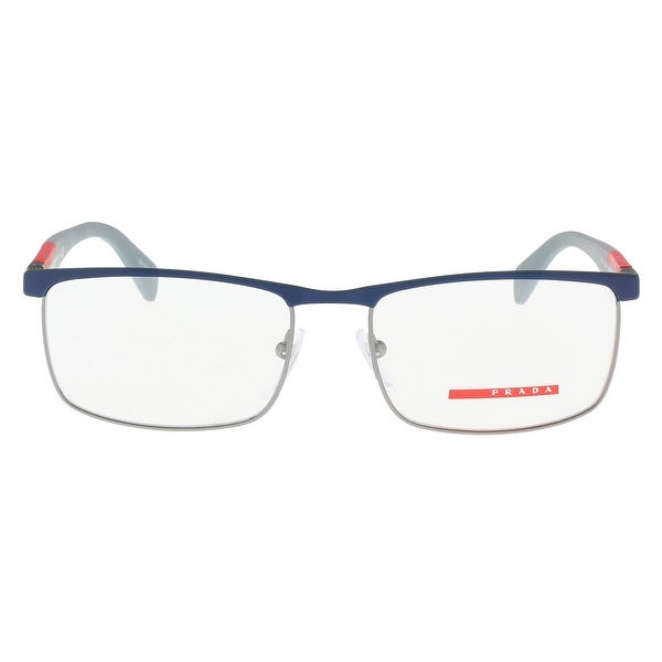 2c9163bfd3a9 Shop Prada PS54FV TWQ1O1 Blue Silver Rectangle Optical Frames - 55 ...