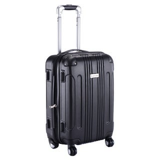 GLOBALWAY Expandable 20'' ABS Luggage Carry on Travel Bag Trolley Suitcase Black