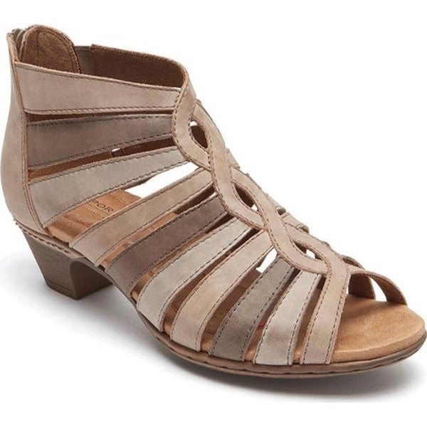 5f65e8765b49 Rockport Women  x27 s Cobb Hill Abbott Gladiator Sandal Light Khaki Multi  Nubuck