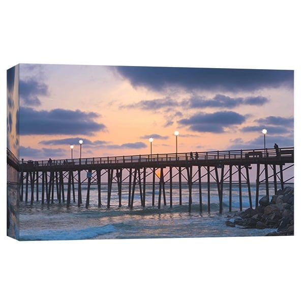 """PTM Images 9-101968 PTM Canvas Collection 8"""" x 10"""" - """"Oceanside Pier 3"""" Giclee Beaches and Waves Art Print on Canvas"""