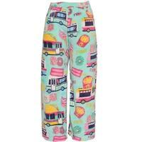 Candy Pink Little Girls Mint Multi Food Truck Mixed Print Pajama Pants