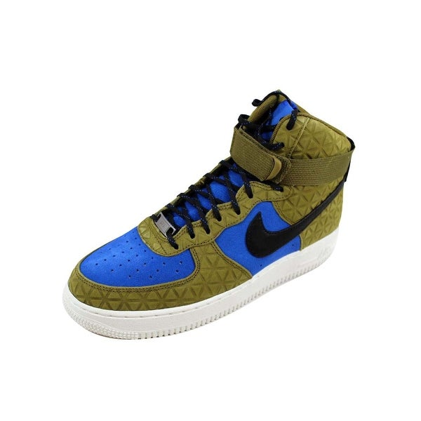 Nike Women's Air Force 1 Hi Premium Suede Olive Flak/Black-Midnight Turquoise 845065-300 Size 10
