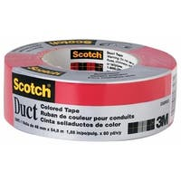 """3M 1005-RED-CD 1.5"""" x 5 yard Red Scotch Duct Tape for Building"""