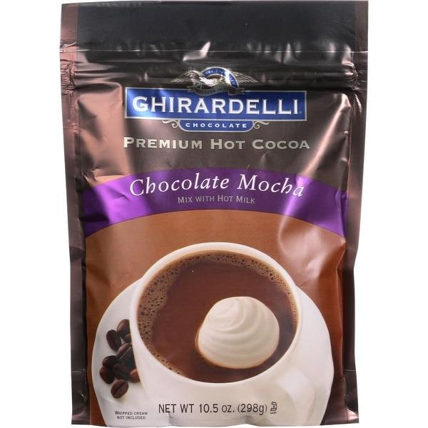 Ghirardelli Chocolate Mocha Premium Hot Cocoa Mix, 10.5 Oz (Pack Of 6)