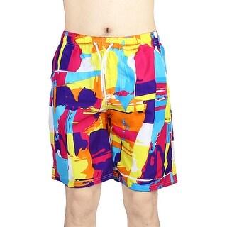 Unique Bargains Men Swim Beach Camouflage Quick Dry Tie Rope Shorts Trunks Casual Swimwear