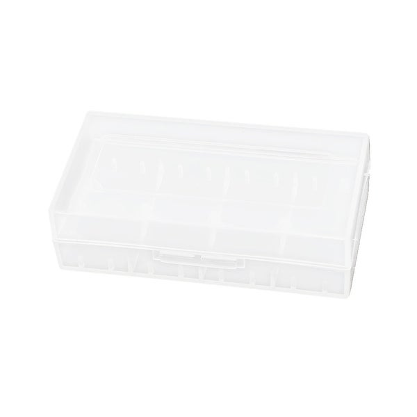 Unique Bargains Plastic Protective Case 18650 Battery Holder Container Box Clear White